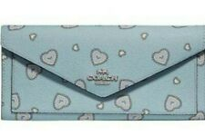 COACH soft wallet with western heart print New