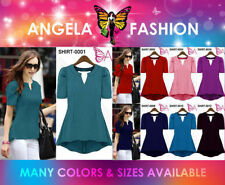 Regular Size Solid Casual Blouson Dresses for Women