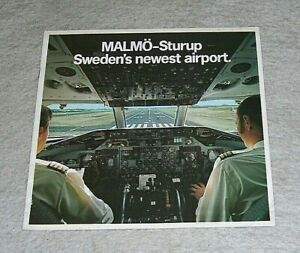 MALMO-STURUP SWEDEN'S NEWEST AIRPORT BROCHURE December 1972