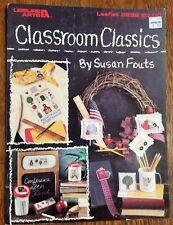 """Classroom Classics"" 2-page cross-stich design leaflet, 11 designs"