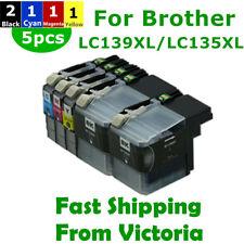 5x LC 139XL 135XL LC139XL  Ink Cartridges for Brother MFC J6520DW J6720DW J6920