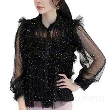 Damenblusen, - tops & -shirts mit klassischem Kragen für Party in Größe 44