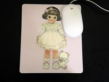 *Party Favors* Korean Afrocat Paper Doll Mate HQ Lg Thick Mouse Pad ~Pink SELLY