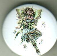 Green Element Fairy pin badge emo punk goth gothic
