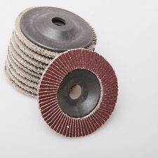 AU 10 Assorted 80 Grit Flap Discs Wheels Angle Grinder Grinding Sanding 100mm
