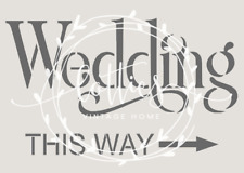 STENCIL A5 WEDDING THIS WAY DIY Signs Shabby Chic ❤ VINTAGE Country Decoration