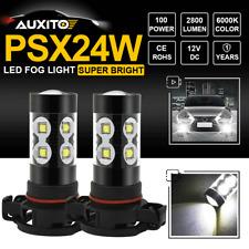 2504 PSX24W LED Fog Light Driving DRL Bulbs For Dodge Subaru Brz Crosstrek Jeep
