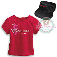 American Girl CL MY AG SET DALLAS FOIL STAR TEE SIZE XS & RUFFLE CAP  Girl NEW