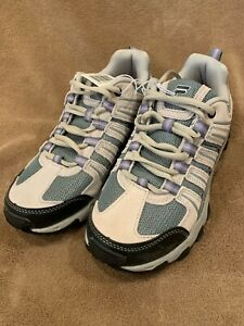 FILA Women's Day Hiker Trail Running Hiking Shoes Cream/Gray/Lila-Size 8 *NEW*