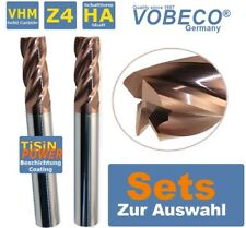 7x Set VHM Schaftfräser Fräsersatz 4 Flöte HSS Hartmetallfräser 1.5-6mm