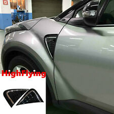 For Toyota C-HR 2016 2017 2pcs/set Car Side Wing Fender Air Guide Trim Sticker