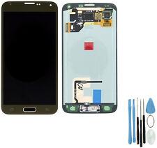 Für Samsung Galaxy S5 SM-G900F LCD Display Digitizer TouchScreen Front glas Gold