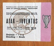 1973 European Cup Final Ticket:- Ajax v Juventus. VGC. **Very Rare**