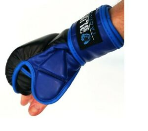 New! Blue Shield MMA Syle Gloves Blue & Black in Color with Sizes L & XL