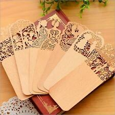 2PCS Wood bookmarks New Hollow Out Cute 2016 Yellow Bookmark For books Delicate