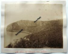 2 GRANDES PHOTOS albumen 1892 BOUGIE Béjaïa la baie le tunnel ALGERIE
