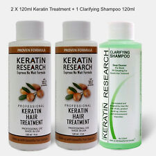 Brazilian complex hair Keratin Blowout Treatment 240ml with Clarifying Shampoo