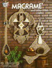 Macrame and Other Fiber Crafts Vintage Project Instruction Book NEW 1977 Rug