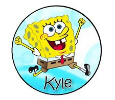 24 Personalized SPONGEBOB Property Stickers for school books name tags labels