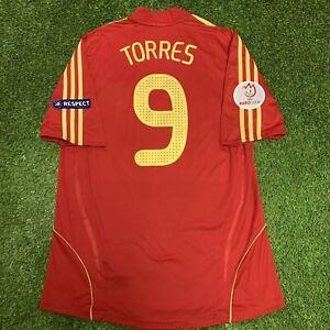 2008 Spain Fernando Torres Jersey Shirt Kit Red Home Large L Adidas Uefa Euro 9