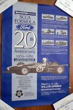 1989 20TH ANNIVERSARY OF FORMULA FORD RACE AT WILLOW SPRINGS POSTER