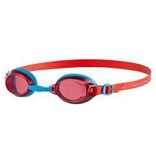 Speedo Jet Junior Enfants UV Anti Brouillard Natation Lunettes (6-14 Ans) - Red