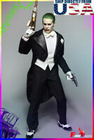 1/6 Joker Jared Leto Head Tuxedo Suit Set 2.0 Suicide Squad Batman USA IN STOCK
