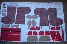Vintage Fabric Traditions Christmas Bear Stocking Fabric Panel Cut N Sew