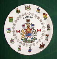 "Vint Alfred Meakin England 10"" Canada & Provinces Coats of Arms Ironst. Plate VG"