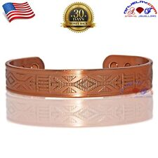 CHUNKY 100% COPPER MAGNETIC BANGLE/CUFF/BRACELET  INDIAN ARROW SIZE-L Y16C