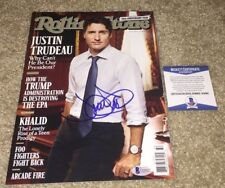PRIME MINISTER JUSTIN TRUDEAU SIGNED ROLLING STONE MAGAZINE CANADA CANADIAN BAS