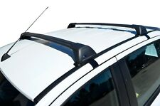 Aerodynamic Roof Rack Cross Bar for Ford Ranger PX 2011-20 Black Flush End