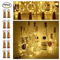 10×2m 20LED Chic Corcho Forma LED Lámpara Mesilla estrellado luz Botella de vino