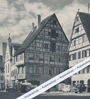 Riedlingen - Apotheke und Hotel Fuchs - um 1965