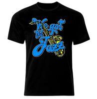 Jazz Musik Metal Rock Rockabilly Skull Punk Guitar T-Shirt