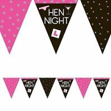 5 X Hen Party Girls Night Out Bridal Bash Banner Bunting Party Decoration 12ft