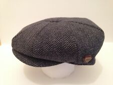 Newsboy Baker Boy County Tweed Peaky Blinders Cabby Flat Cap Large 58-59cm L