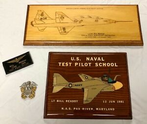 NASA Astronaut Bill Readdy USN Naval Test Pilot School NAMED Plaques & Name Tag