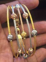 Classy Dubai Handmade Heavy Dubai Bracelet In Fine Hallmark 22Carat Yellow Gold