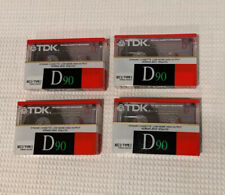 New listing Lot Of 4 New Tdk D 90 Min Type I Normal Bias Audio Cassette Tapes. New Sealed.