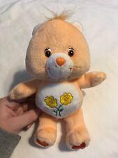 Plush 9 Inch Care Bear Flowers Buttercups Bear 2002 Orange Stuffed Animal Teddy