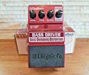 DIGITECH X-SERIES BASS DRIVER - Bass Overdrive / Distortion - Guitar Pedal