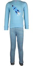 MiniZZZ Rocket L/S Cotton T-Shirt / Long John Pyjama Set Blue (3)