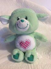 2004 Care Bears Cousins Plush Green 10� Gentle Heart Lamb W/Heart Great Shape