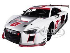 """AUDI SPORT R8 LMS #1 """"PRESENTATION CAR"""" 1/18 DIECAST MODEL CAR BY PARAGON 88101"""