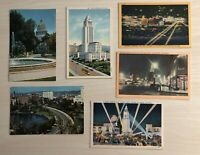 Lot of 6 California Vintage Postcards Hollywood Los Angeles Wilshire City Hall