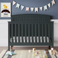 Baby Relax Colton 5-in-1 Convertible Crib, Nursery Furniture, Gray