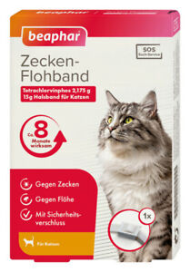 Beaphar SOS Flohhalsband 35 cm Katze Zeckenhalsband 8 Monate wirksam