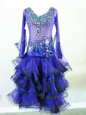 Ballroom Dance Competition Pageant Gown International Standard Purple Medium