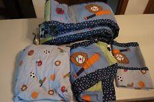 Boys Infant Sports Crib Bedding Set Nursery Quilt Bumper Sheet Skirt Curtian